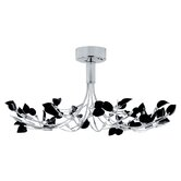 Wisteria Chandelier with Black Glass