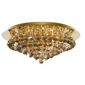 Hanna Eight Light Semi Flush Mount in Gold