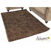 Two-Tone Brown Shag Rug