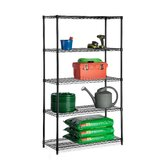 Five Tier Storage Shelves in Black