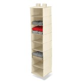 Eight Shelf Hanging Organizer in Natural