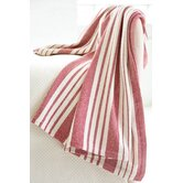 Birmingham Red Woven Cotton Throw