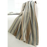 Blue Heron Stripe Woven Cotton Throw