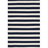 Trimaran Navy/Ivory Striped Rug