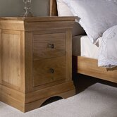Worthing 2 Drawer Bedside Table