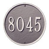 "9"" Round Wall Address Plaque"