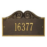 Versailles Standard Wall Address Plaque