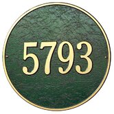 15&quot; Round Wall Address Plaque
