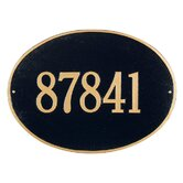 Hawthorne Oval Estate Wall Address Plaque
