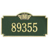 Monogram Estate Wall Address Plaque