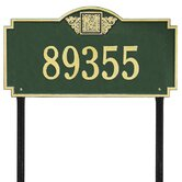 Monogram Estate Lawn Address Plaque