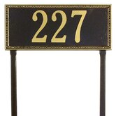 Egg and Dart Estate Lawn Address Plaque