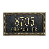 Egg and Dart Standard Wall Address Plaque