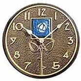 Blue Dard Hunter Rose Clock In French Bronze