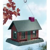 Log Cabin Village Collection Birdfeeder