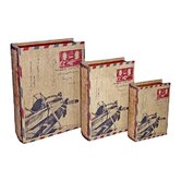 Letter Box with Plane (Set of 3)
