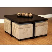 Club Coffee Table with Ottoman