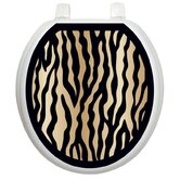 Classic Toilet Seat Applique with Zebra Design