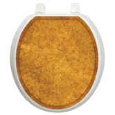 Classic Toilet Seat Applique with Caramel Sponge Design