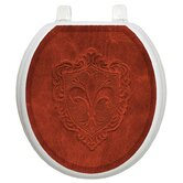 Classic Toilet Seat Applique with Embossed French Lily