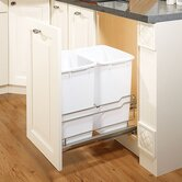 Double Cabinet-Mounted Pull-Out Waste Bin Frame