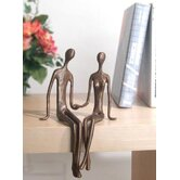 Sitting Couple in Cast Bronze