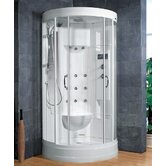 Sliding Door Steam Sauna Shower with Bath Tub