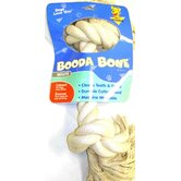 Two Knot Rope Bone Dog Toy in White