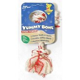 Yummy Two Knot Rope Bone Dog Toy with Steak Flavor