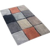 Tiles Bath Rug in Brown