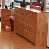 Windridge Solid Alder Shaker 10 Drawer Dresser