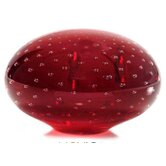 Vermilion Horizon Murano Hand Blown Paperweight