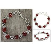 The Shanker Artisan Fire of India Carnelian Link Bracelet