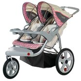 Grand Safari Swivel Wheel Double Stroller