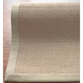 Natural Jute Cotton Sand Border Rug