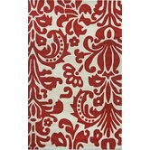 Cine Modern Damask Red Rug