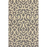 Chelsea Atlantic Damask Grey Rug