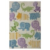 Kinder Ivory Animal Kingdom Kids Rug