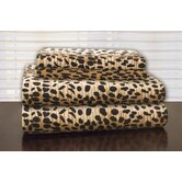 Heavy Weight Printed Flannel Sheet Set in Cheetah Print