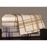 300 Thread Count Printed Plaid Sateen Sheet Set