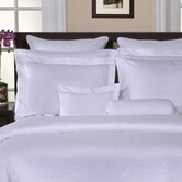 650 Thread Count Jacquard Duvet Set in White