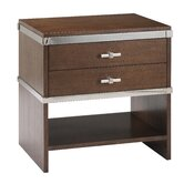 Modern Glamour Claudia 2 Drawer Nightstand
