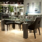 Tiffany Dining Table with Crackle Glass