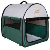 Soft-Sided Dog Crate with Mat in Green