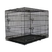 Two Door Folding Metal Dog Crate