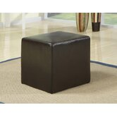 Leather Cube in Dark Brown