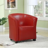 Seattle Leather Tub Chair in Red
