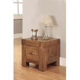 Santana One Drawer Lamp Table in Rich Patina