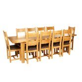 Calgary 220cm Extension Solid Oak Dining Table