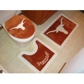 Texas Longhorns 3 Piece Bath Rugs